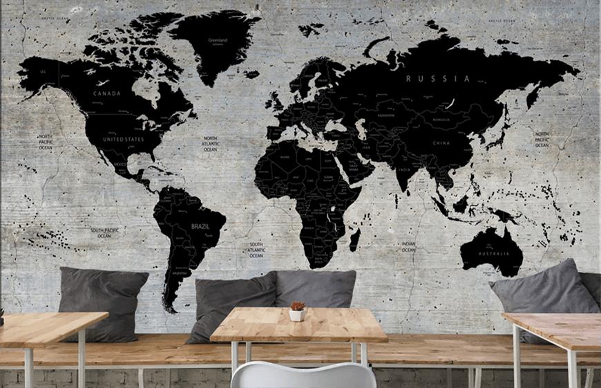 Carta Da Parati Con Mappa Del Mondo