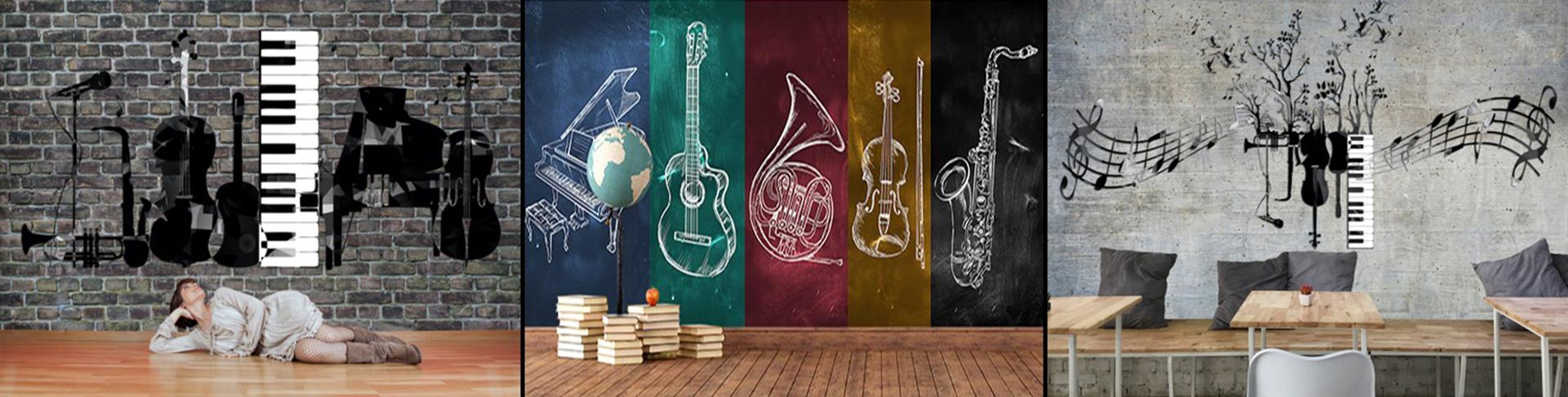 Carta Da Parati Musicale - Murales Musicali 3D